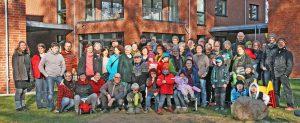 Gruppenbild der LeNa-Mitbewohner im Frühjahr 2016