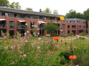 LeNa Blick auf Häuser 1 und 2 von der Gartenseite