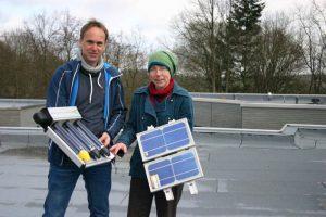 Solarmodule vor der Montage