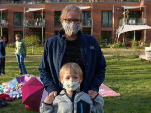 LeNa-Mitglieder mit Maske