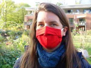 LeNa-Mitglied mit Maske