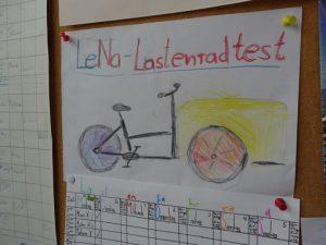 Tabelle für Lastenradtest