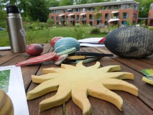 Kreativ-Werkstatt im Garten bei LeNa
