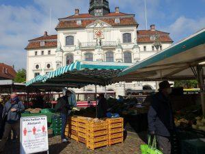 Marktplatz Lüneburg - Einkauf in Corona-Zeiten