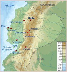 Ecuador - Landkarte aus Wikipedia